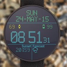 Скачать LED Watch face with Weather на Андроид